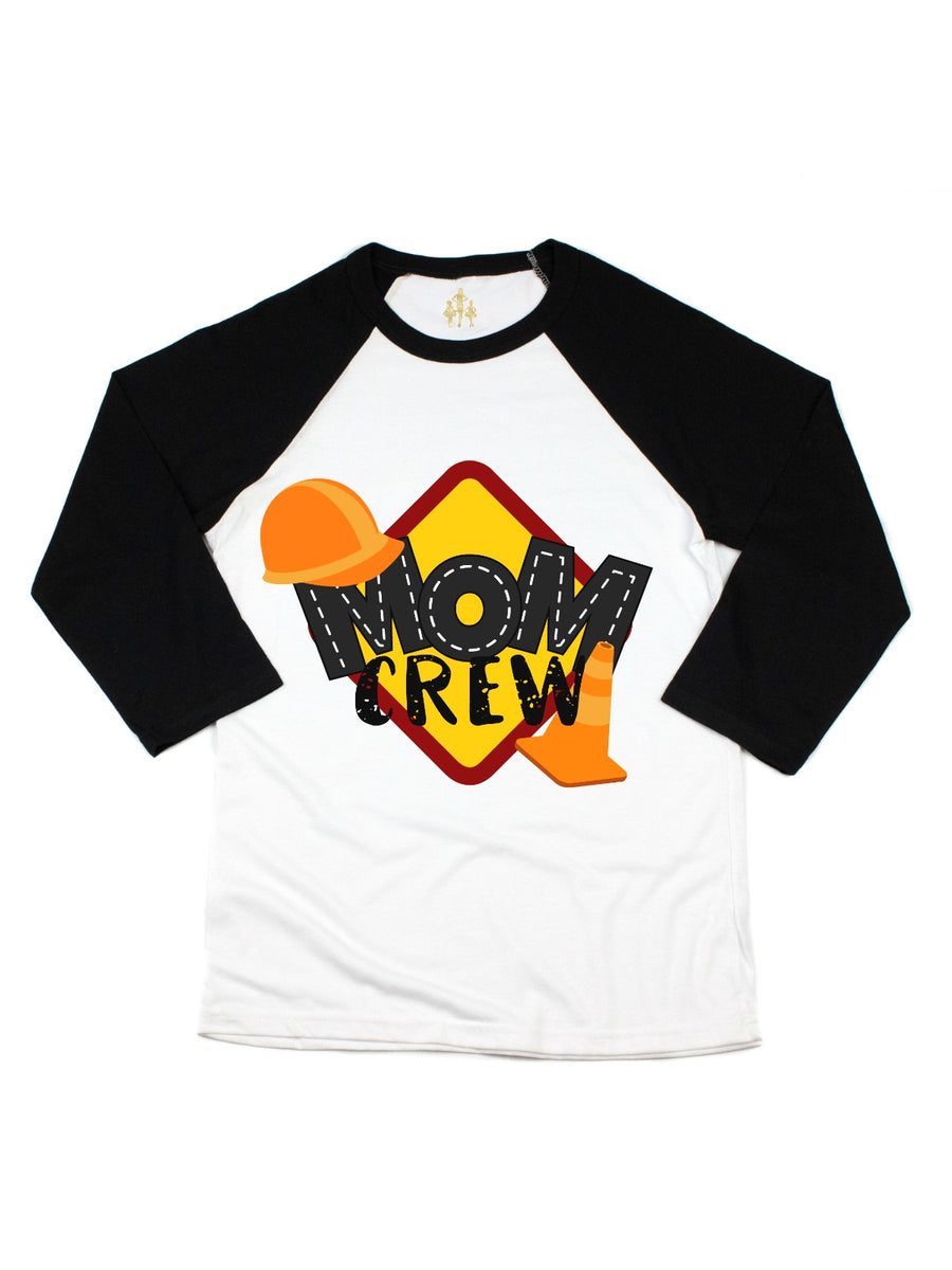mom crew construction birthday party shirt