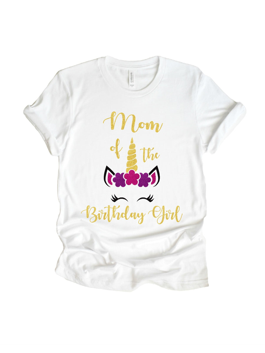mom of the birthday girl women's t-shirt