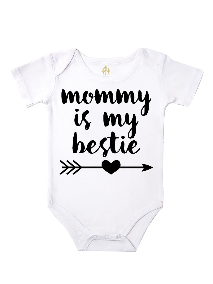 mommy is my bestie baby girl bodysuit