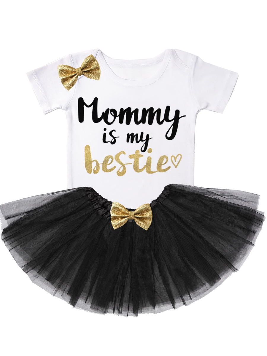 Mommy Is My Bestie Tutu Outfit