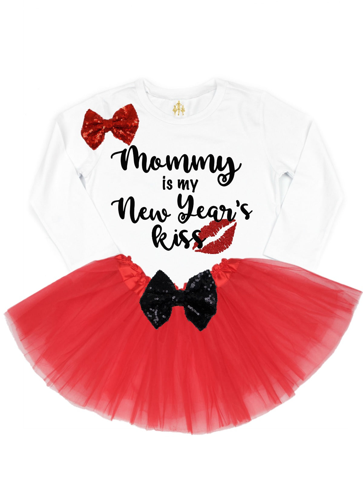 Mommy Is My New Year S Kiss Baby Girltutu Outfit Mmofphilly