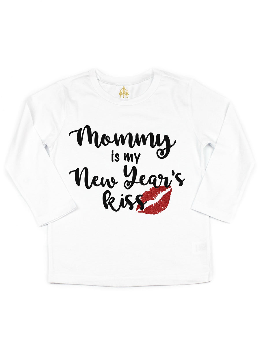 mommy is my new years kiss tutu outfit