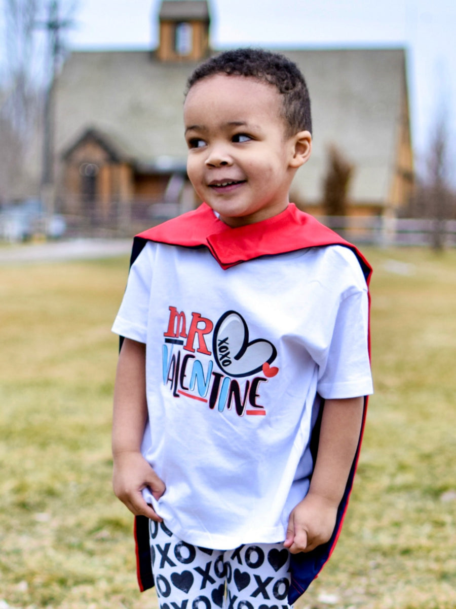 mr valentine raglan t-shirt for youth kids