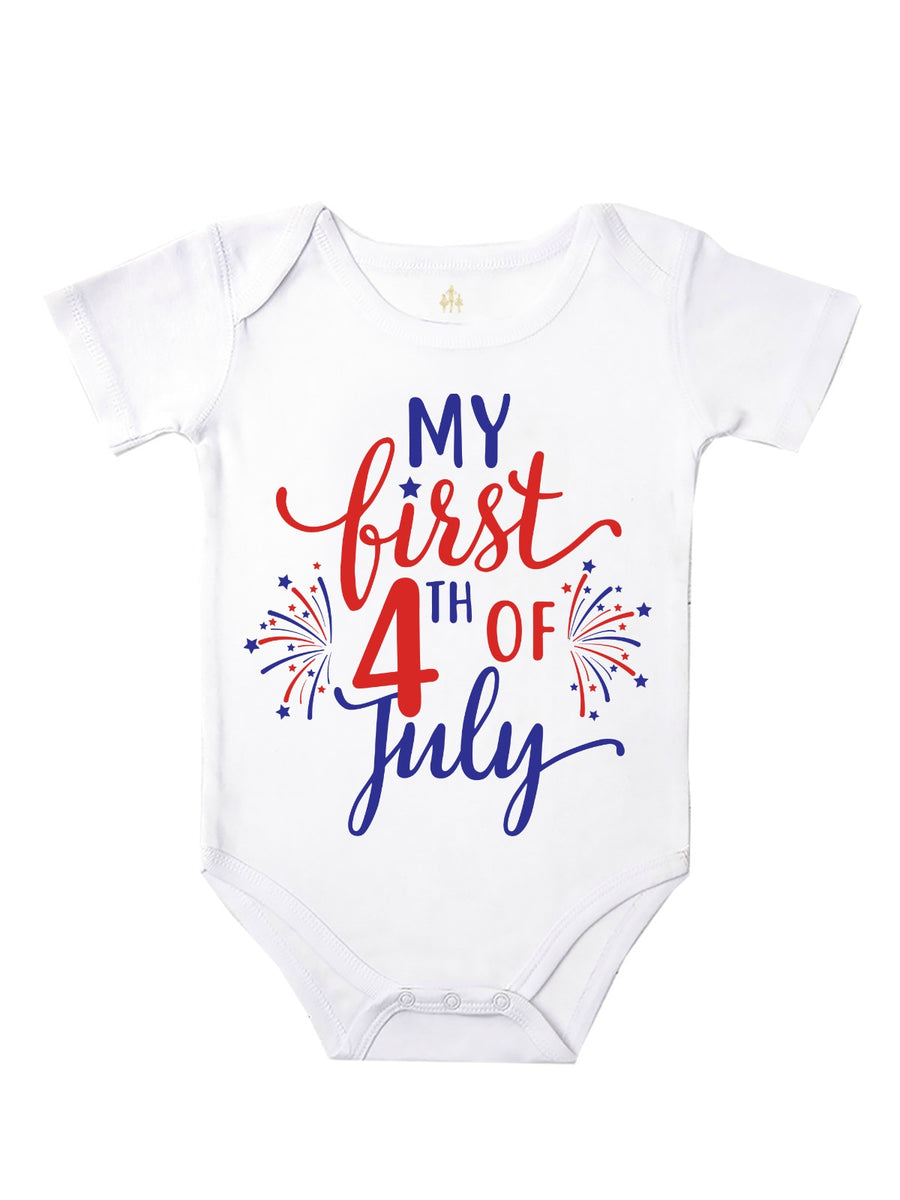 My First 4th of July Girl's Top