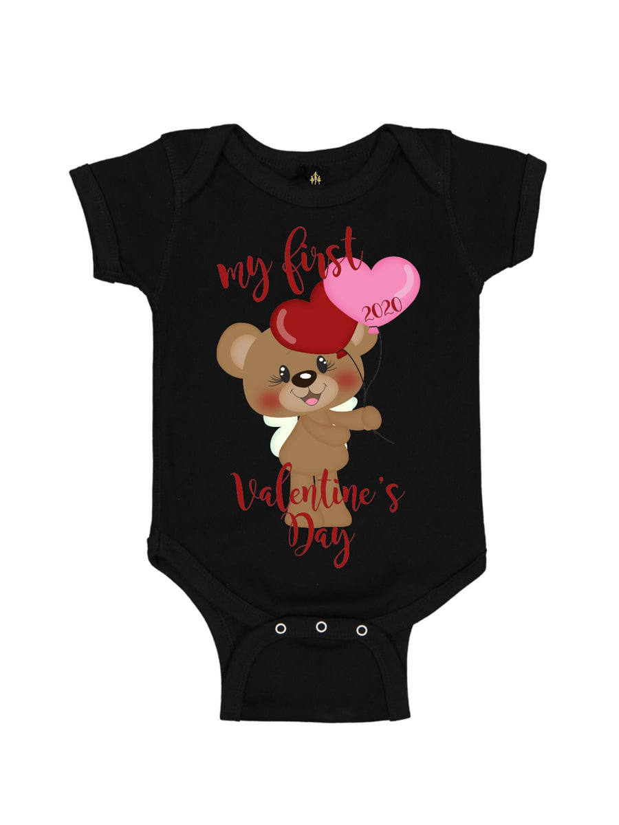 personalized girls first valentine's day outfit