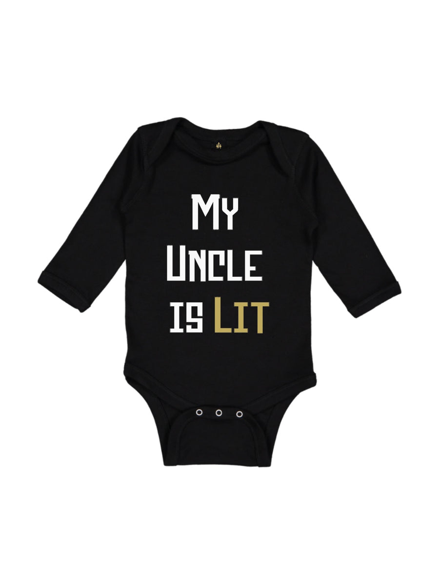 my uncle is lit baby bodysuit