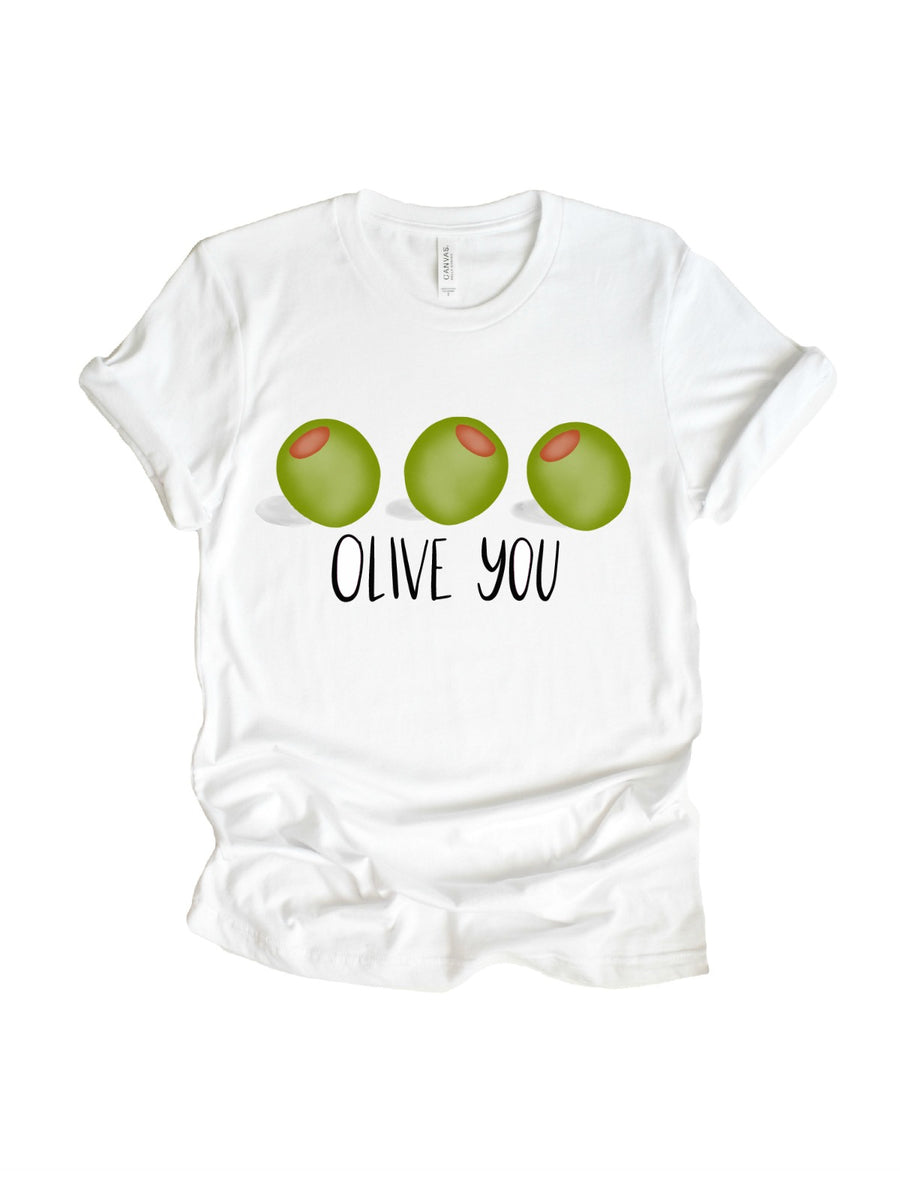 olive you mommy and me matching valentines day shirt