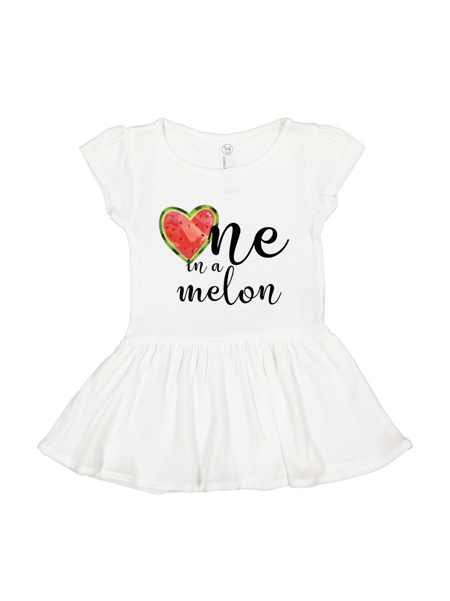 one in a melon girls spring birthday dress