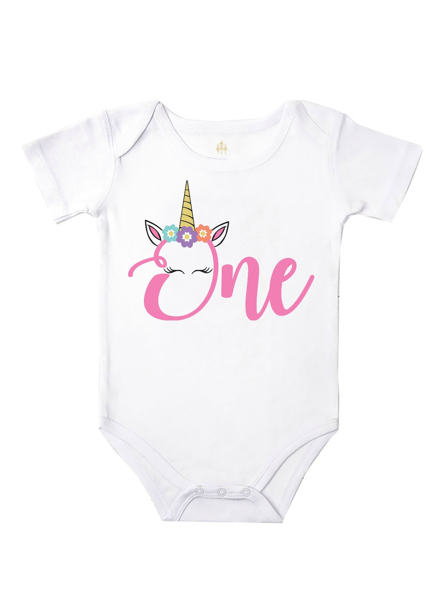 first birthday ONE unicorn shirt