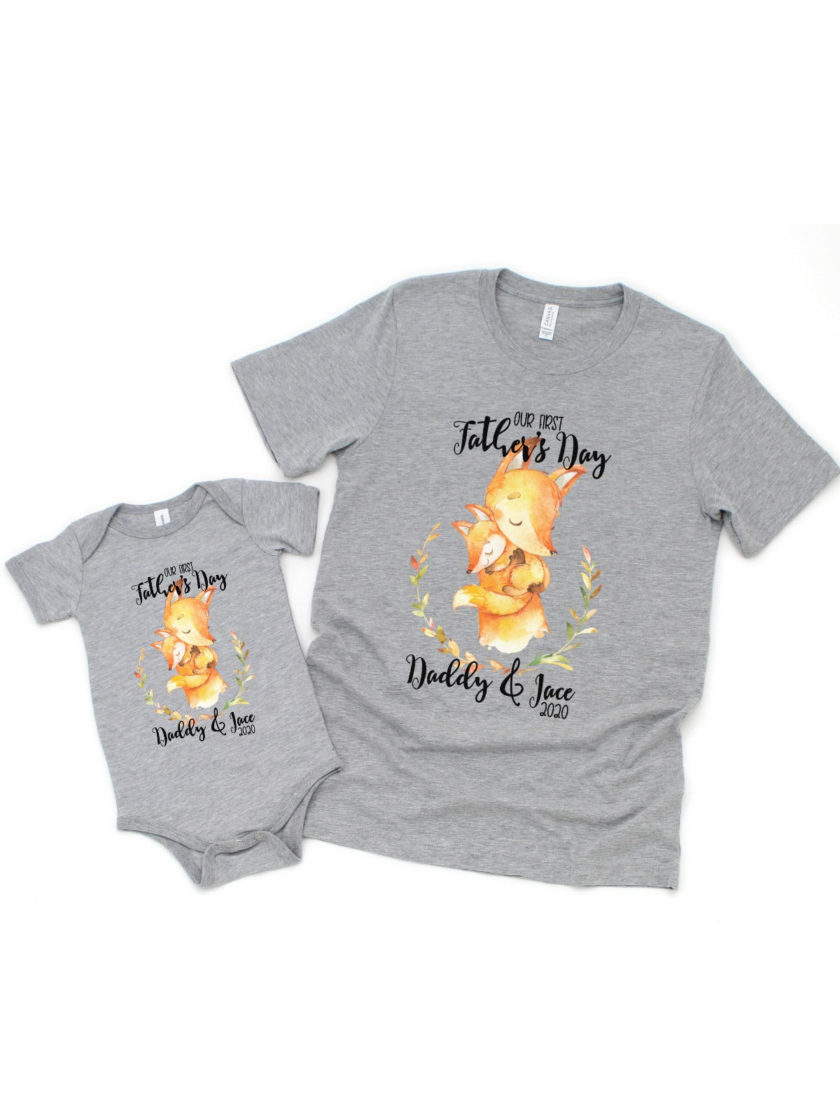 Personalized Matching Shirt Set  Our First Father/'s Day Dad /& Daughter Matching Shirt Set
