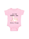 our first mother's day mommy and me swans bodysuit
