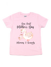 our first mother's day mommy and me swans light pink t-shirt