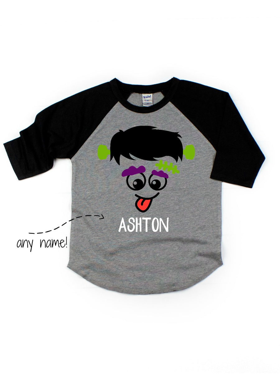 kids halloween shirt personalized