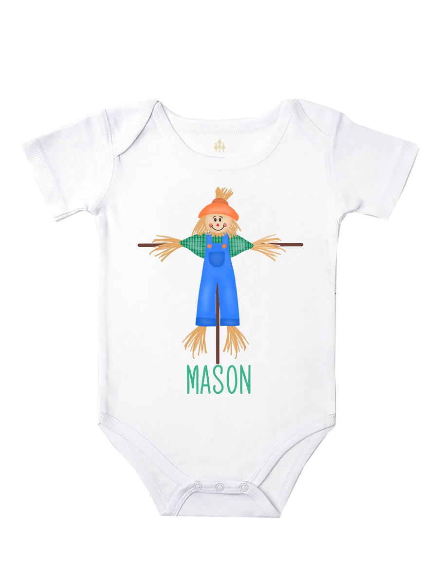 boys personalized scarecrow shirt