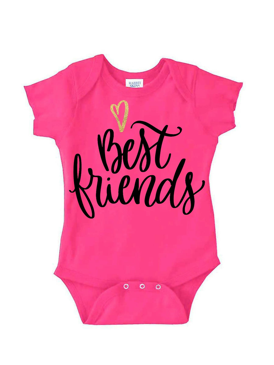 Additional Best Friends Bodysuit in white