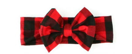 Buffalo Plaid Big Bow Headband
