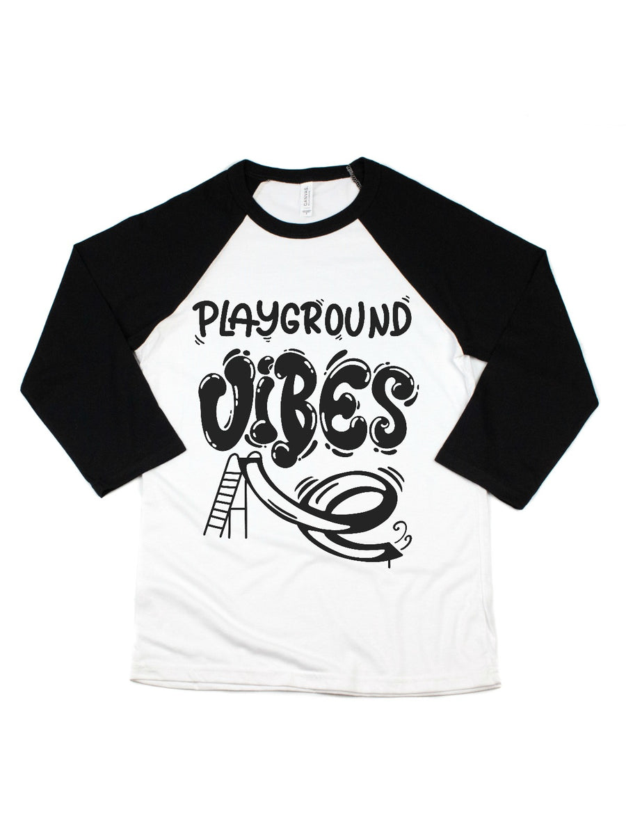 Playground Vibes Gray/Black Raglan