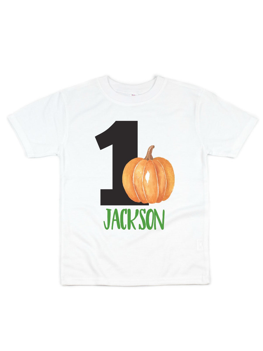 personalized birthday pumpkin boys shirt