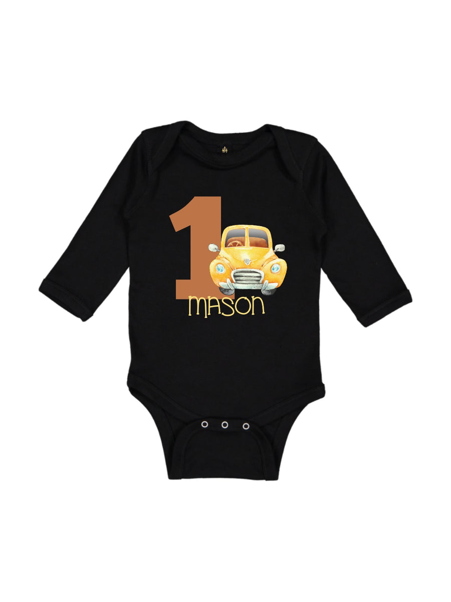 kids personalized first birthday fall bodysuit