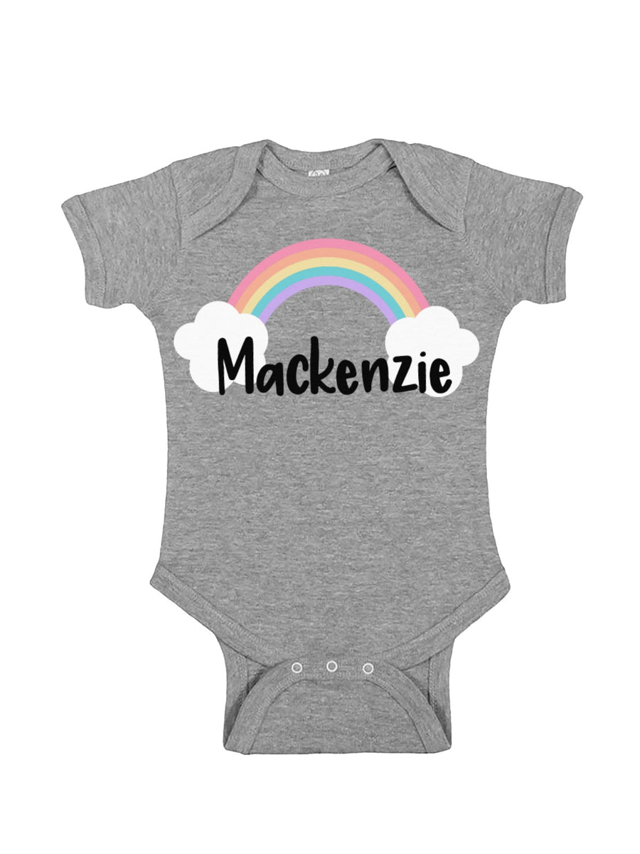 Baby Girl Personalized Rainbow Baby Bodysuit