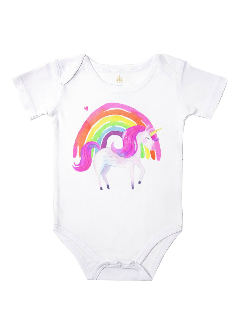 Unicorn Rainbow baby bodysuit