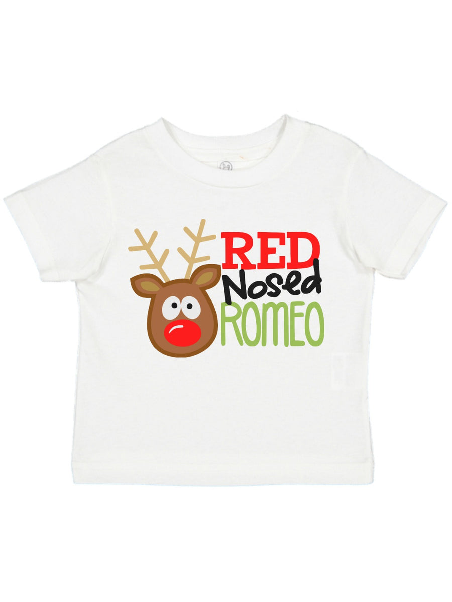 red nosed romeo boys Christmas t-shirt