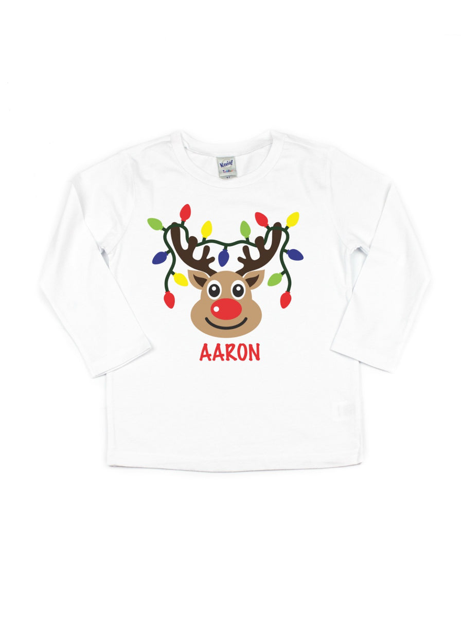 Personalized Reindeer T-shirt & Bodysuit