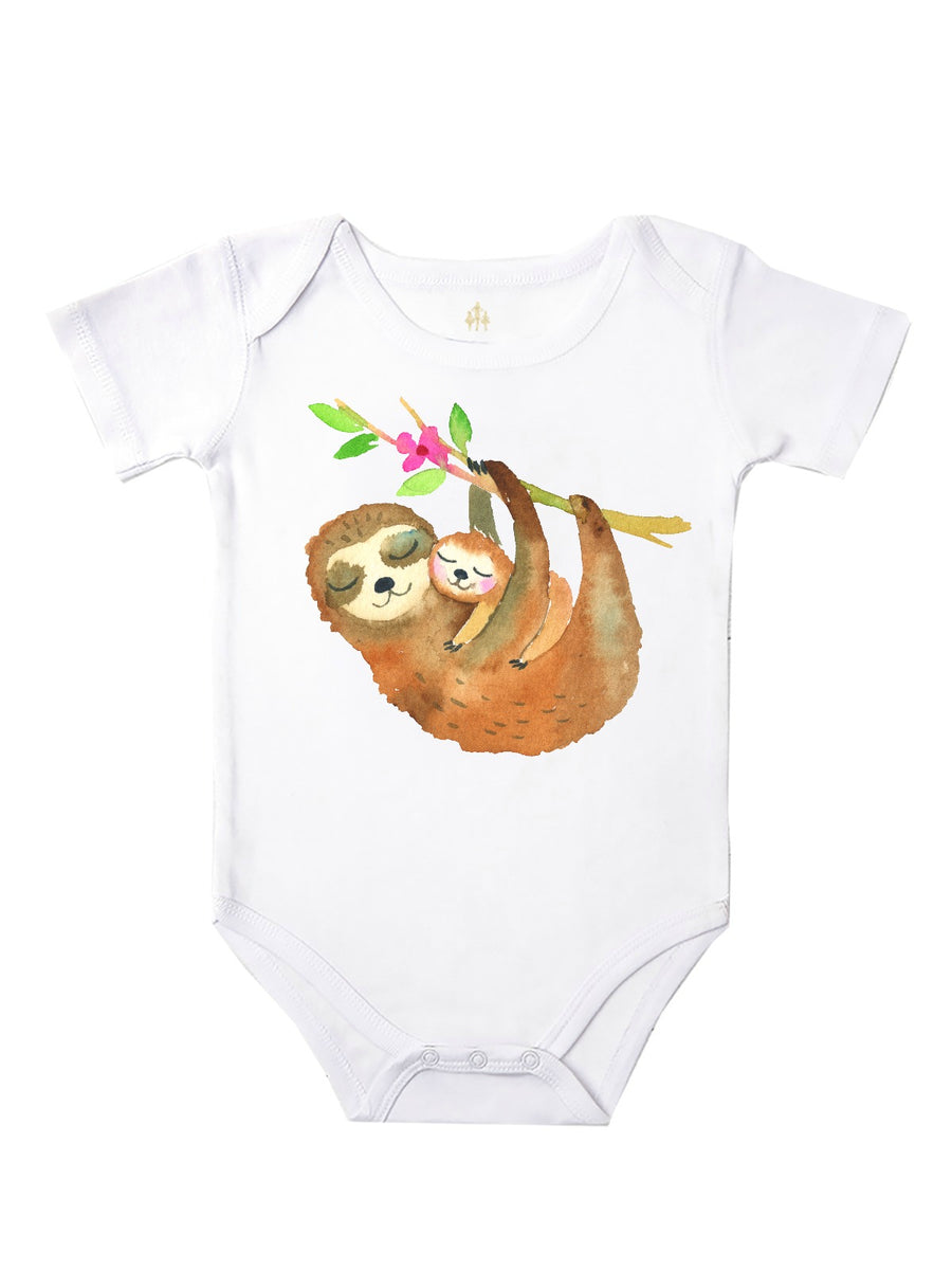Sleepy Sloths Baby Bodysuit and Girl's T-Shirt