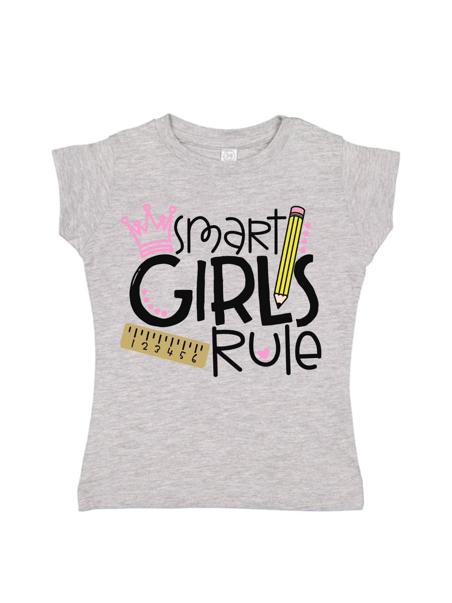 smart girls rule girls school shirt