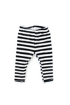 half inch white and black stripe leggings for girls