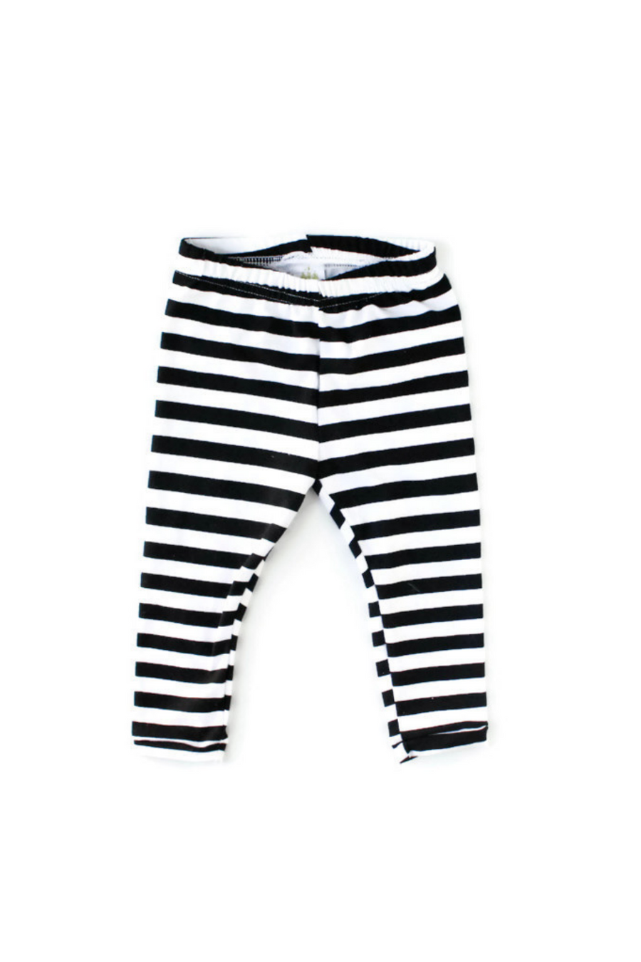 black and white stripes leggings for girls