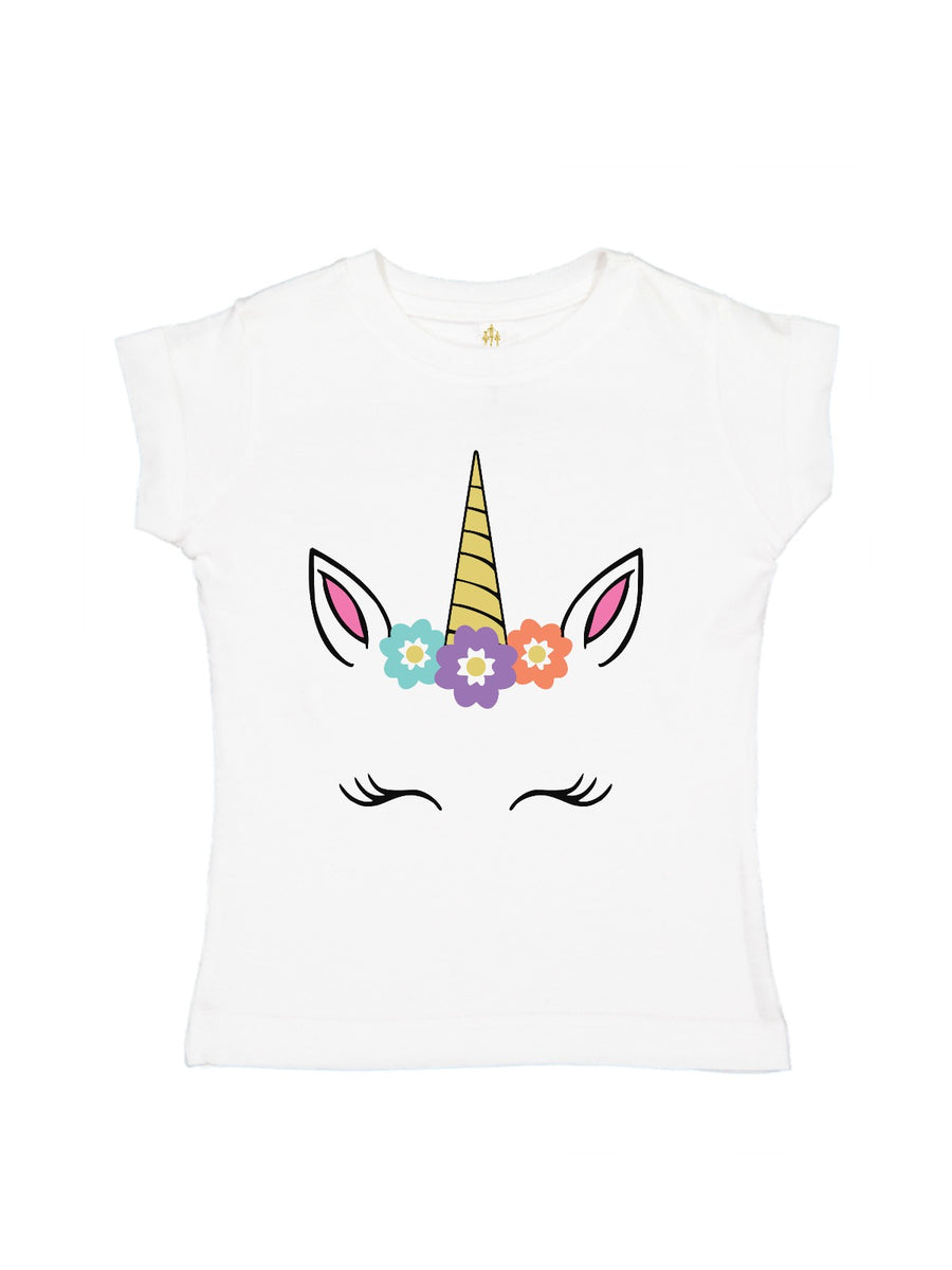 personalized smiling unicorn face shirt