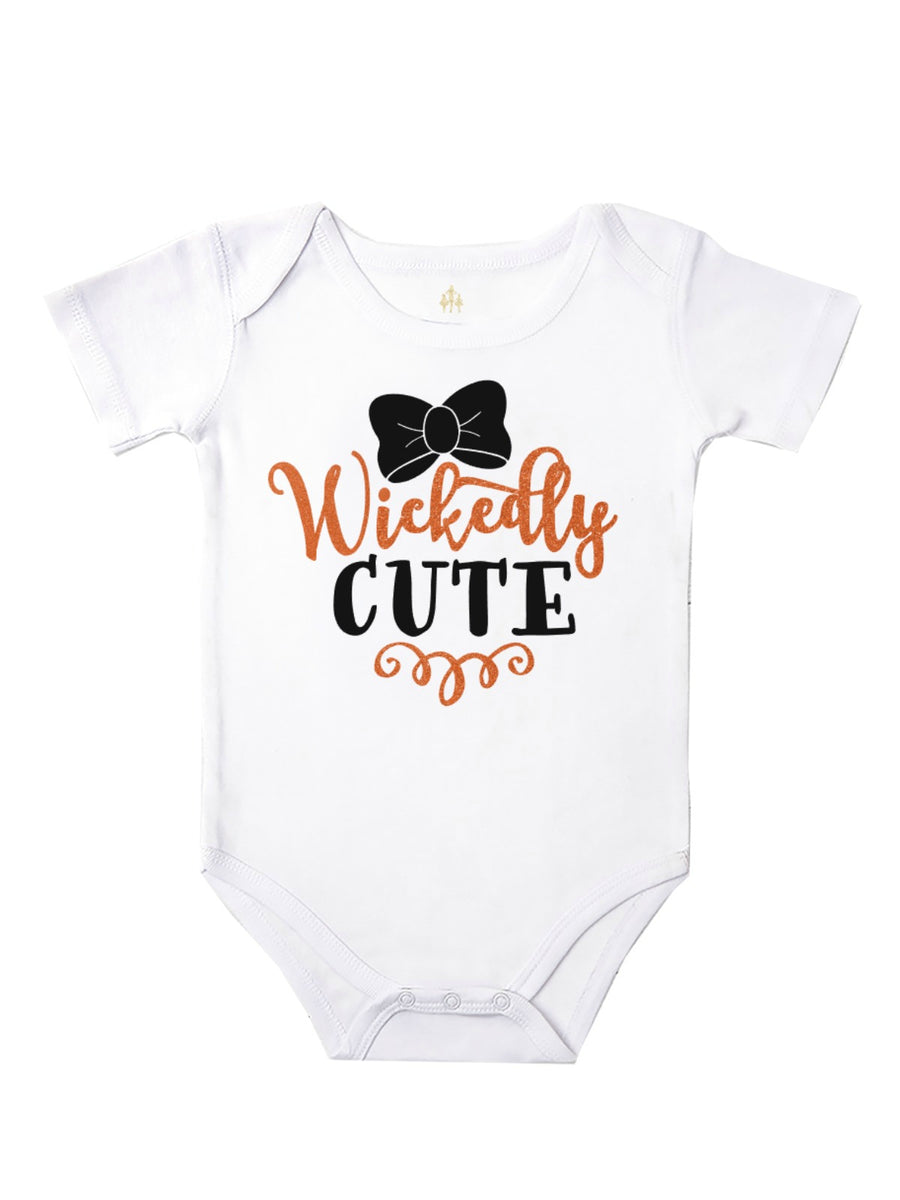 wickedly cute baby girl Halloween bodysuit