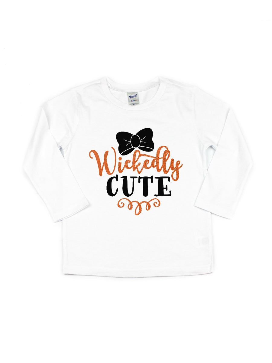 wickedly cute girls halloween shirt