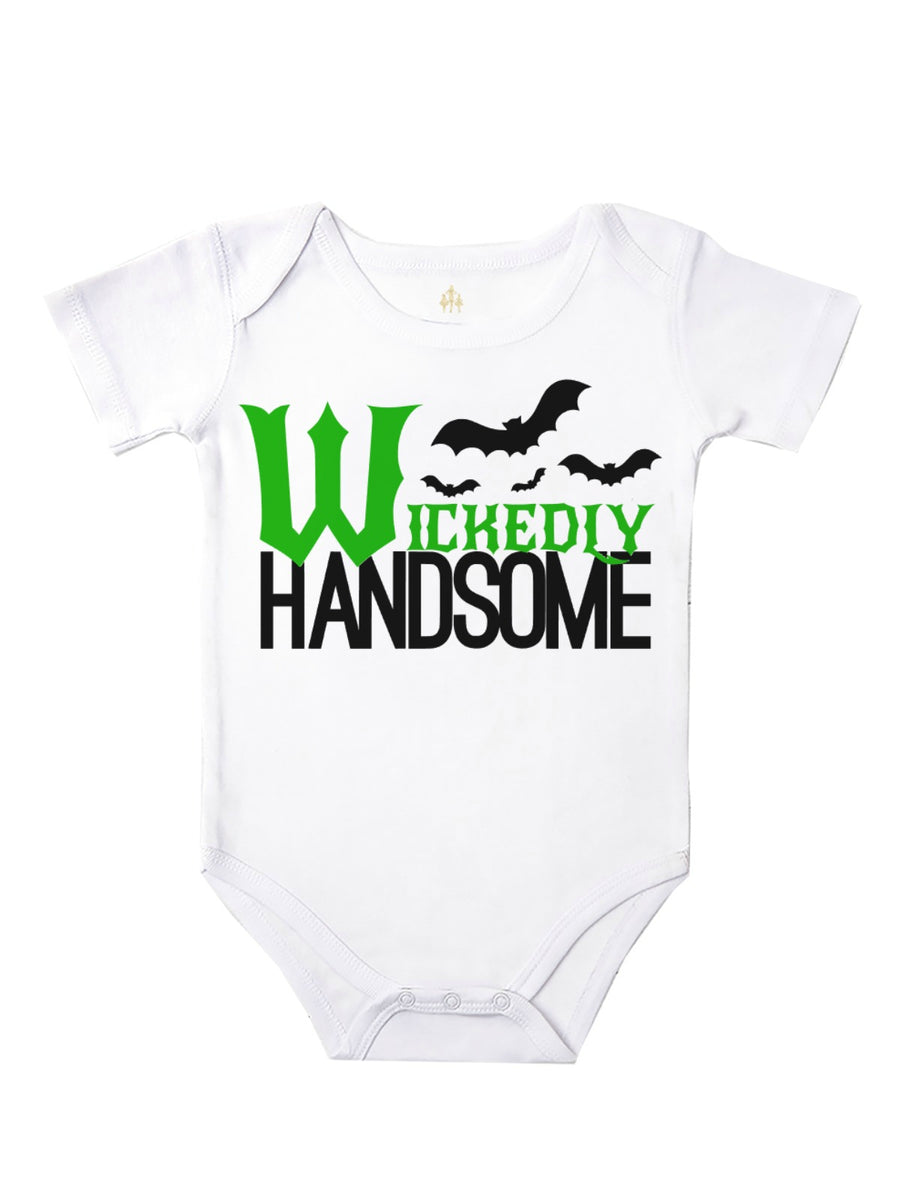 wickedly handsome baby bodysuit for Halloween