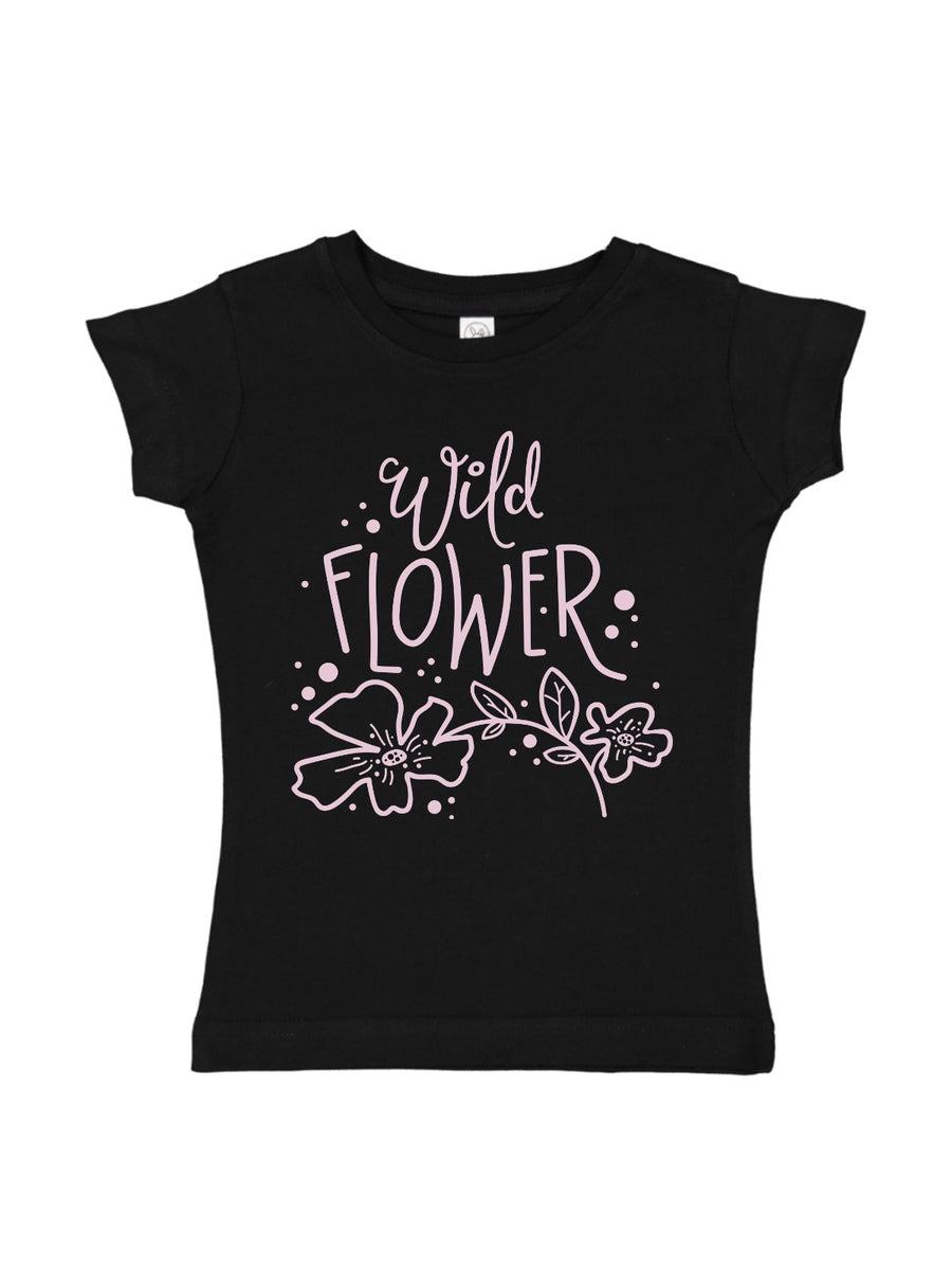 girls wild flower shirt