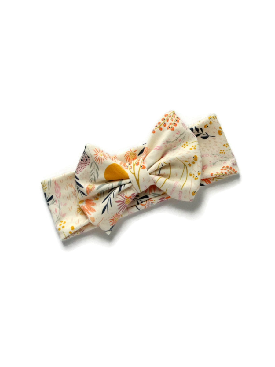 Bow Headband - Wispy Leaves