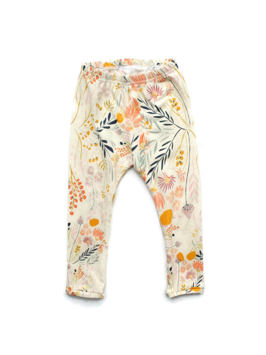 baby and toddler girl wispy print leggings