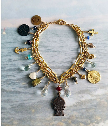 Sea of Galilee Charm Bracelet