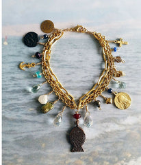 Sea of Galilee Charm Bracelet -  Christian Jewelry