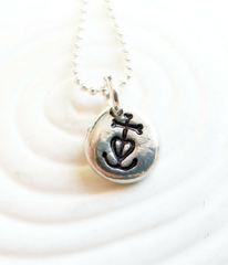 Hand-Stamped Camargue Cross Necklace
