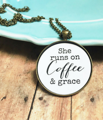 Coffee & Grace Necklace