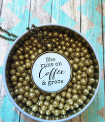 Coffee & Grace Necklace -  Christian Jewelry