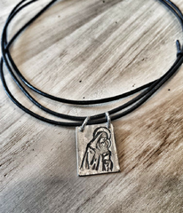 Brown Scapular Necklace -  Christian Jewelry