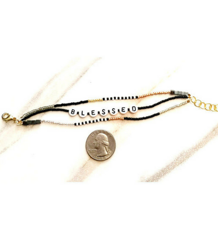 Blessed Beaded Bracelet -  Christian Jewelry