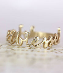 Blessed Gold Ring -  Christian Jewelry