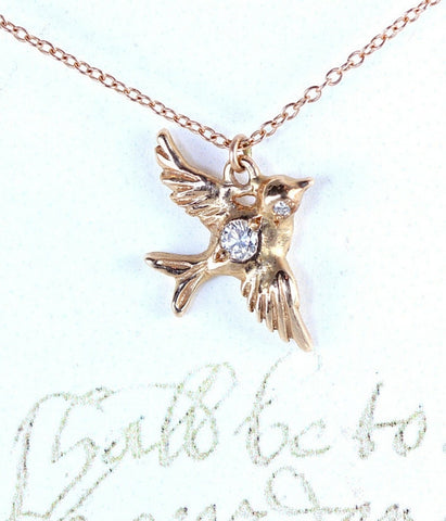 Darling Gold Dove Necklace