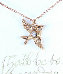 Darling Gold Dove Necklace -  Christian Jewelry