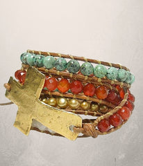 Cross Wrap Bracelet -  Christian Jewelry