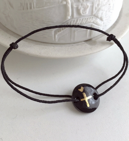 Porcelain Cross Your Heart Bracelet
